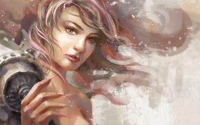 Picture fantasy, Girl, art, mechanisms