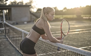 Picture girl, sport, court