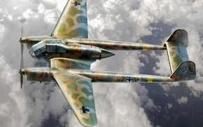 Picture aircraft, war, airplane, aviation, ww2, dogfight, german aircraft