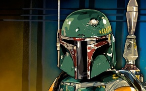 Wallpaper star wars, Boba Fett, mercenary