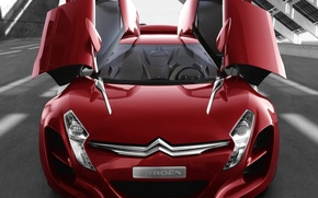 Wallpaper red, Citroen