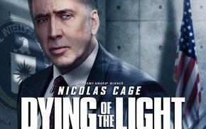 Picture cinema, USA, green eyes, man, eagle, movie, flag, film, suit, Nicolas Cage, tie, 2015, American …