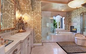 Picture design, Villa, mirror, bath, wardrobe, fireplace, luxury, Design, Bathroom, luxury, Interior