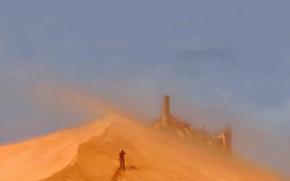 Wallpaper people, sand, castle
