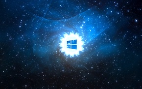 Picture space, emblem, windows, operating system, Windows, Windows 8, in the style of mac os, Windows …