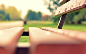 Picture greens, grass, macro, bench, Park, background, widescreen, Wallpaper, blur, meadow, shop, shop, wallpaper, bench, widescreen, …