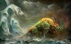 Picture sea, monster, Leo