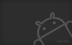 Picture grey, robot, android