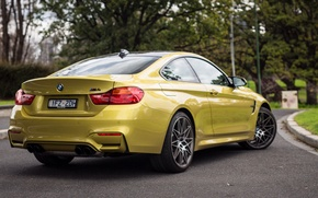 Picture car, auto, BMW, Coupe, wallpapers, back, exhausts, Competition Package