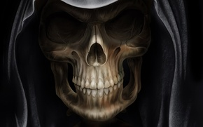 Picture death, Gothic, skull, mantle