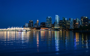 Picture night, Canada, Vancouver, Canada, night, Vancouver