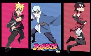 Picture Boruto: Naruto the Movie, Sarada, Boruto, Mitsuki, Team konokhomaru