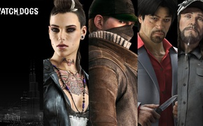 Picture the city, tattoo, knife, Watch Dogs, Ubisoft Montreal, Watchdogs, Aiden Pearce, Clara Lille, Disrupt