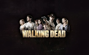Picture background, the inscription, zombies, zombie, the series, serial, Andrea, The Walking Dead, Amy, The walking ...