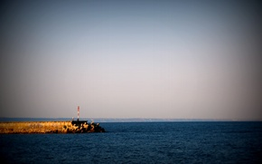 Picture sea, wave, summer, lighthouse, Bulgaria