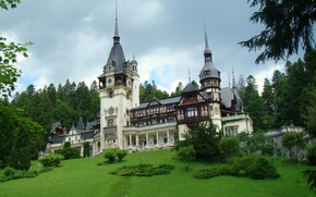 Picture summer, landscape, nature, photo, Romania, Transylvania, Peles castle