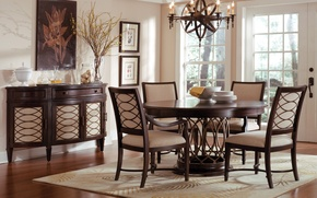 Picture interior, dining room, vintage style