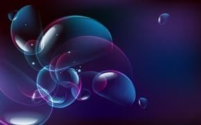 Wallpaper Purple, Glare, Bubbles