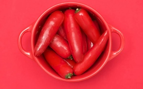 Picture Cup, Red cubed, chili
