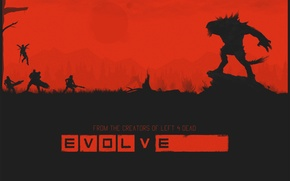 Picture the game, monster, evolve, hunter, poster, Turtle Rock Studios