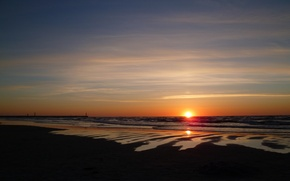 Picture beach, sea, sun, Loeb, sunsed