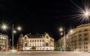 Picture night, street, Austria, lights, Vienna, Vienna