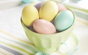 Wallpaper eggs, Easter, eggs, table, holiday, Easter