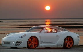 Wallpaper zaZen, tuning, Rinspeed, car, auto, Concept, sunset