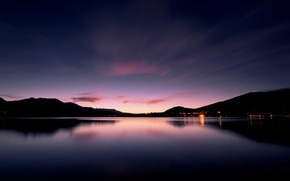 Picture dawn, lake, twilight, the evening, landscape