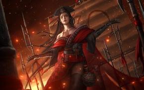 Picture girl, dress, art, villain, Swordsman, Dong Fang Bu Bai