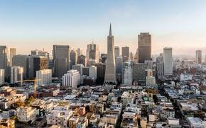 Picture the sky, city, the city, fog, house, the building, skyscraper, CA, San Francisco, USA, USA, …