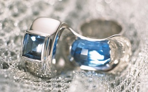 Picture silver, ring, decoration, Topaz