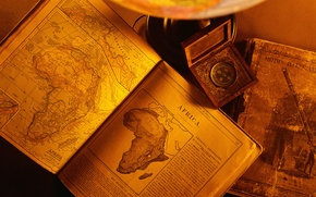 Picture old, paper, books, africa continent