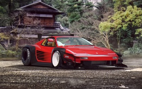 Picture Ferrari, Red, Classic, Tuning, Future, Supercar, 512, by Khyzyl Saleem