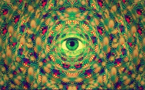 Picture abstraction, eyes, art, LSD
