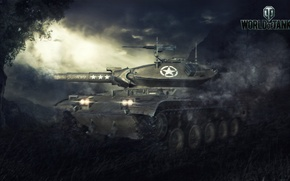 Picture Game, USA, USA, Games, Art, World of Tanks, Wargaming Net, FuriousGFX, T49