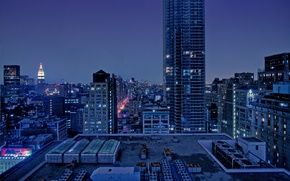 Wallpaper builds, home, city, the city, night, night, view, landscape