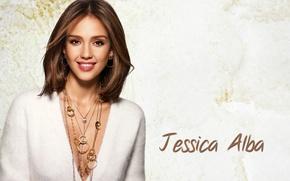 Picture decoration, smile, Jessica Alba, actress