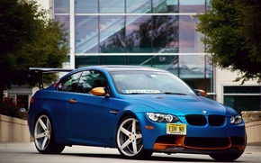 Picture BMW, blue, tuning, E92
