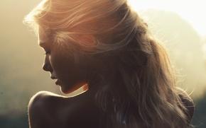 Picture girl, light, hair, Matilda