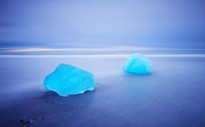 Picture sea, beach, nature, ice