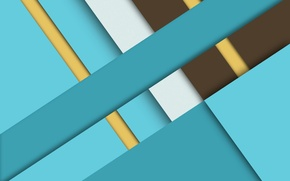 Picture line, yellow, abstraction, blue, brown