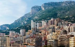 Picture landscape, mountains, rocks, home, Monaco, Monte Carlo