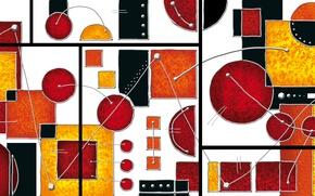 Picture colors, lines, figures, composition