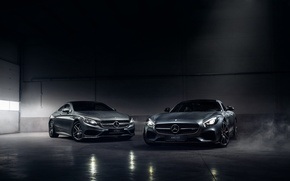 Picture Mercedes-Benz, German, Cars, AMG, Smoke, S Class, Automotive