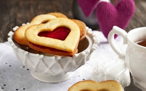 Picture love, holiday, heart, food, cookies, Cup, love, dessert, heart, food, cup, sweet, sweet, holiday, dessert, ...