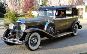 Picture retro, Park, track, Duesenberg, 1934, Limousine, Rollston