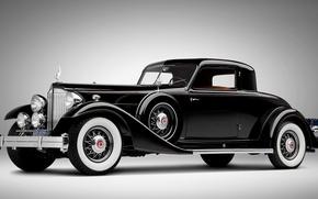 Picture retro, black, Rolls Royce, car