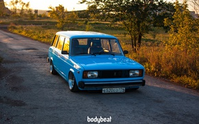 Picture Tuning, Russia, blue, universal, Lada, bodybeat, four, Rus, VAZ-2104