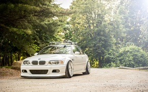 Picture white, BMW, BMW, white, tuning, E46